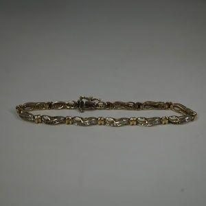 """Jewelry - 14KY Gold 7 1/2"""" Genuine Diamond Tennis Bracelet"""